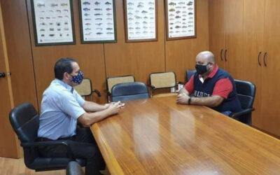 Reunión de la federación con el director General de Pesca del Gobierno de Canarias